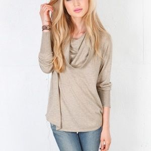 Joie oversized Gray Cowl Neck Sweater XS